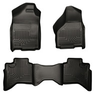 98031 | Black Husky Liner Front and Rear Weatherbeater Set