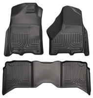 99001 | Black Husky Liners Front and Rear Weatherbeater Floor Mats