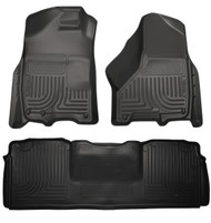 99041 | Black Husky Liners Front and Rear Floor Mat Set Mega Cab