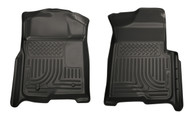 18381 | Black Husky Liners Front Floor Mats 08-10 Super Duty