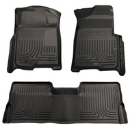 98391 | Black Front and Rear Husky Liner Floor Mats Weatherbeater