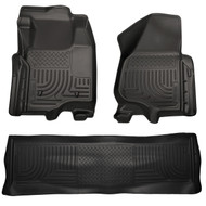 98711 | Black Front and Rear WeatherBeater Floor Mats 2011-2012 Super Duty