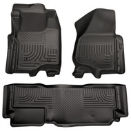 98721 | Black Husky Liners WeatherBeater Front and Rear Floor Mat Set