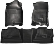 98201 | Black Weatherbeater Front and Rear Floor Mat Set