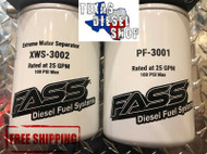 FASS Titanium Series Fuel Filter Package XWS-3002 / PF-3001