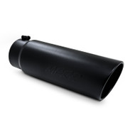"T5124BLK | Universal Black Powder Coated 4"" Aftermarket Exhaust Tip"