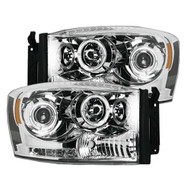 264199CL | Recon Lighting Chrome Headlights | Dodge Ram 2006-2009