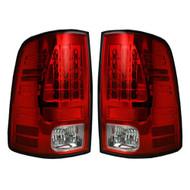 264169RD | Dodge Ram LED Tail Lights Red