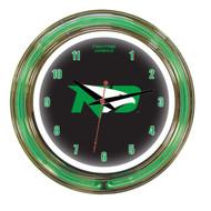 "North Dakota Fighting Hawks 14"" Clock"