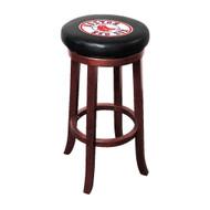 Boston Red Sox Bar Stool -- Wooden Legs