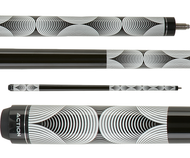 Action Black and White Pool Cue BW23
