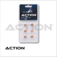 Action Standard Pool Cue Tips - Blister Pack of  6