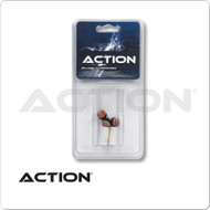 Action  Screw on Pool Cue Tips  and Ferrules- Blister Pack