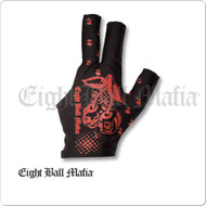 Eight Ball Mafia Billiard  Glove - Bridge Hand Left - BGLEBM02