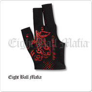 Eight Ball Mafia Billiard  Glove - Bridge Hand Right - BGrEBM02
