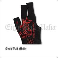 Eight Ball Mafia Billiard  Glove - Bridge Hand Right - BGREBM02
