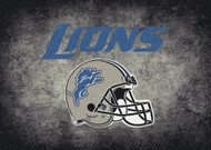 Detroit Lions Distressed Rug