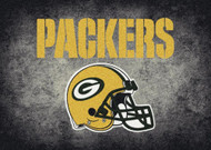 Green Bay Packers Distressed Rug