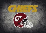 Kansas City Chiefs Distressed Rug