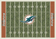 Miami Dolphins Home Field Rug