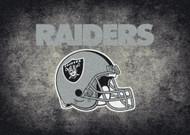 Las Vegas Raiders Distessed Rug