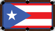 Custom Pool Table Cloth - Flags of the World Series / Puerto Rico