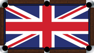Custom Pool Table Cloth - Flags of the World Series / UK Flag