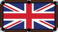 Custom Pool Table Cloth - Flags of the World Series / UK Flag