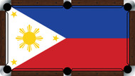 Custom Pool Table Cloth - Flags of the World Series / Philippines Flag