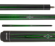 Action Impact Pool Cue IMP65 Green Stain Points