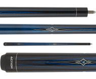 Action Impact Pool Cue IMP66 Blue Stain Points