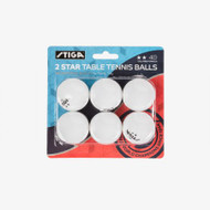 Stiga® Two Star Table Tennis Balls  - Package of 6 - T142