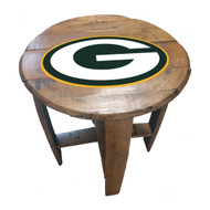 Green Bay Packers Oak Barrel Table