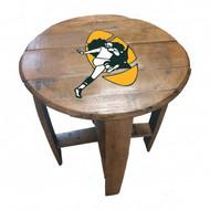 Green Bay Packers Historical Oak Barrel Table