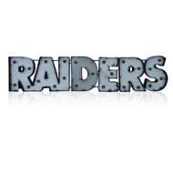 Las Vegas Raiders Lighted Recycled Metal Sign