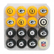 Green Bay Packers Billiard Balls with Numbers