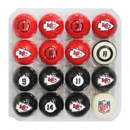 Kansas City Chiefs Billiard Balls with Numbers
