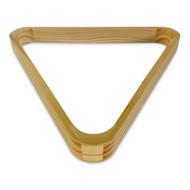 Deluxe Wood Pool Ball Triangle Rack, Oak