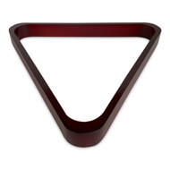 Deluxe Wood Pool Ball Triangle Rack, Mahogany