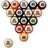Arizona Wildcats Billiard Ball Set - Standard Colors