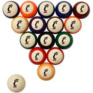 Cincinnati Bearcats Billiard Ball Set - Standard Colors