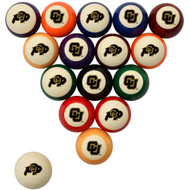 Colorado Buffaloes Billiard Ball Set - Standard Colors
