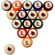 Louisville Cardinals Billiard Ball Set - Standard Colors