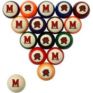 Maryland Terrapins Billiard Ball Set - Standard Colors
