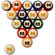 Michigan Wolverines Billiard Ball Set - Standard Colors