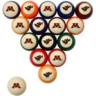 Minnesota Golden Gophers Billiard Ball Set - Standard Colors