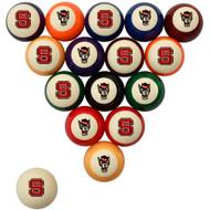 NC State Wolfpack Billiard Ball Set - Standard Colors