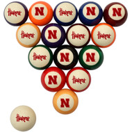 Nebraska Cornhuskers Billiard Ball Set - Standard Colors