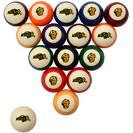 North Dakota State Bisons Billiard Ball Set - Standard Colors