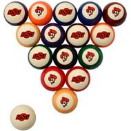 Oklahoma State Cowboys Billiard Ball Set - Standard Colors